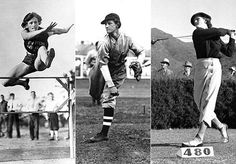 """Mildred """"Babe"""" Didrikson Zaharias, record-setting golfer, basketball player, and in track and field.  She said as a teenager that her """"goal was to be the greatest athlete who ever lived.""""  She participated in nearly every sport available including basketball, track, golf, baseball, tennis, swimming, diving, boxing, volleyball, handball, bowling, billiards, skating, and cycling."""