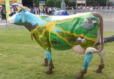 Cow Parade, Musk Ox, Cute Cows, Picasso, Surface Design, Sheep, Goats, Dinosaur Stuffed Animal, Statue