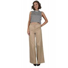 Pantaloni Dama VERO MODA Sille Chili High Waisted Chili, Khaki Pants, Fashion, Elegant, Moda, Khakis, Chile, Fashion Styles, Chilis