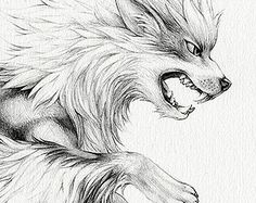 "Arcanine - 8 x 10"" print (pokemon drawing, art, artwork, gaming, nintendo, decor)"