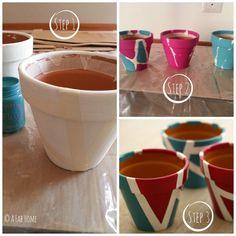 A Fab Home: {Fai da te} Dipingere i vasi di terracotta: il mio tutorial