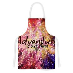 KESS InHouse Ebi Emporium 'Adventure is Out There' Pink Typography Artistic Apron, 31 by 35.75', Multicolor * Review more details here : Bakeware