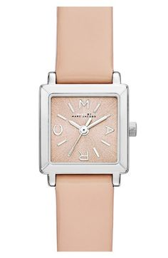 MARC BY MARC JACOBS 'Katherine' Square Dial Leather Strap Watch, 19mm available at #Nordstrom