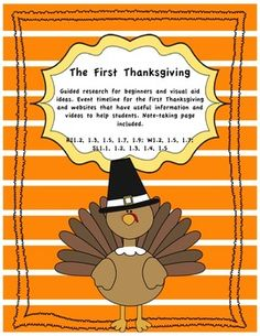 The First Thanksgiving Research projects for beginners