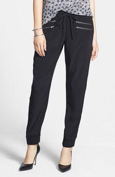 Halogen® Zip Detail Track Pants (Regular & Petite) (Online Only) available at #Nordstrom