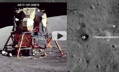 The last humans to leave their mark on the moon left a variety of Earthly technology upon the surface. The descent stage, the shadow of the American flag, the lunar rover and more are all seen by NASA's Lunar Reconnaissance Orbiter.