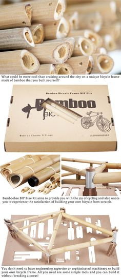 Bamboobee Build It Yourself (BIY) Bike Kit by Sunny (AhSun) Chuah — Kickstarter  Check out Bamboobee Build It Yourself (BIY) Bike Kit only $169! Help make it happen on #Kickstarter https://www.kickstarter.com/projects/817362809/bamboobee-build-it-yourself-biy-bike-kit