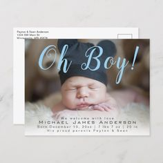 Shop Oh Boy! Modern Script Baby Boy Photo Birth Announcement created by jujusplace. Personalize it with photos & text or purchase as is! Birth Announcement Template, Birth Announcement Photos, Birth Announcements, Architecture 3d, Baby Boy Photos, Baby Birth, Videos, New Baby Products, 3d Printing