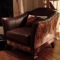 Love my cowhide chair