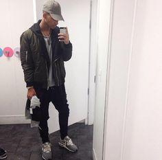 FVSHION RI0T — Instagram (@lust.trap) Gray sweatshirt :H&M; Long...