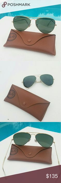 Rayban Aviator Large metal sunglasses Authentic Rayban aviator large metal sunglasses.  L0205 58mm. No scratch, very good used condition. Comes with a case. Rayban Accessories Glasses