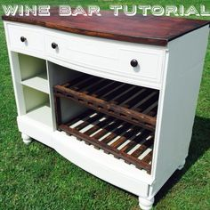 DIY Dresser to Wine Bar featured on Weekend Craft's Creative Spark Link Party!