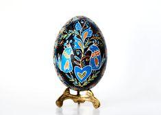 Love Birds pysanka hand painted egg wedding by UkrainianEasterEggs