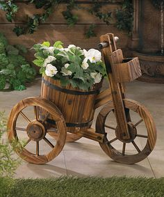 Look what I found on #zulily! Wooden Bucket Bike Planter by Zingz & Thingz #zulilyfinds