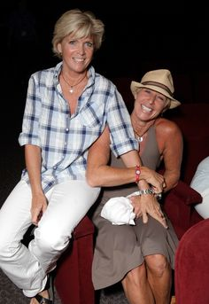 """Meredith Baxter & Nancy Locke - In 2009, She told Matt Lauer on TODAY """"I am a lesbian and it was a later-in-life recognition."""" Meredith Baxter led a """"secret life"""" as an emotionally abused wife for years before learning she was gay and entering """"the healthiest relationship I have ever had,"""" the star of the '80s show, """"Family Ties,"""" told Oprah Winfrey while holding the hand of her lesbian partner. Meredith and Nancy are now married"""