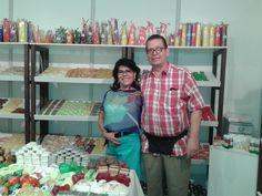 En la aperture del Stand de Creaciones Anykar, Feria Internacional del Sur en la ciudad de Tarija!!