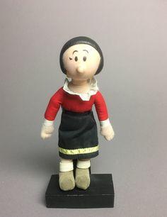 Olive Oyl Doll Soft Sculpture 1991 Popeye Girlfriend Plastic Head  Amerawell Productions. by Anaforia on Etsy