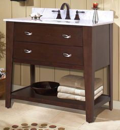 Sunny Wood Mission Oak Vanity Collection www. Mission Oak, Bath Cabinets, Pinterest Board, Kitchen And Bath, Vanity, Bathroom, Wood, Collection, Bathroom Vanity Cabinets