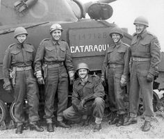 Juno Beach, First Hussars Regiment, Lt. McCormic and his tank crew Canadian Soldiers, Canadian Army, Canadian History, British Army, British Tanks, Tank Riders, Les Cents, Royal Canadian Navy, Navy Air Force