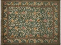 William Morris Pak-Persian Jasmine Lt. Green/Pink Hand-Knotted Rug (4'6 x 7'0)