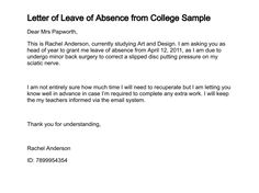 School leave application hashdoc letter absence from college letter leave absence from college sample appeal letters best free home design idea inspiration spiritdancerdesigns Image collections