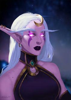 Night elf - World of Warcraft World Of Warcraft Game, World Of Warcraft Characters, Warcraft Art, Dnd Characters, Fantasy Characters, Female Characters, Fantasy Girl, Dark Fantasy, Fantasy Races