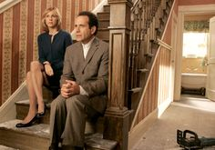 Adrian Monk (Tony Shalhoub) and Natalie Teeger (Traylor Howard)