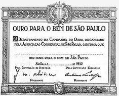 """Campanha """"Ouro para o Bem de São Paulo"""" - Certificado de Doação"""