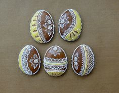 Royal Icing, Creative Food, Cookie Decorating, Sugar Cookies, Gingerbread, Projects To Try, Ornament, Easter, Paint