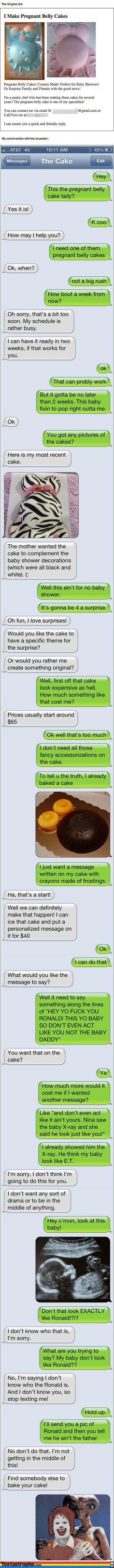 Dude Fake Texts Local Pastry Chef In A Hilarious Prank Almost Too Funny To Be True