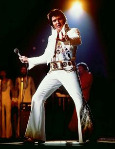Iconic Image of Elvis Presley has was used for the LP/CD cover for Elvis Presley Blvd Memphis Tennessee. released in 1976. But this was originally taken on Tour in Memphis on June the 10th at the Mid South Coliseum Closing Tour Show in ' 1975.