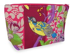 Cosmetic Bag / Zippered Pouch  Bug Hunt Vibrant by ModDiva on Etsy, $12.00