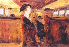 "Jack Butler Yeats Irish 1871 - 1957 ""Singing ""Oh had I the Wings of a Swallow"""" Irish Painters, Jack B, Irish Eyes Are Smiling, Irish Culture, Irish Art, Swallow, Figurative Art, Butler, Art Sketches"