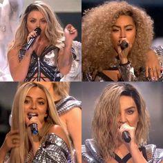 Little mix killed it tonight at the Brits! Little Mix Brits, Brit Awards 2017, Mix Photo, Zayn, Girls, Queens, Fan Art, Makeup, Music