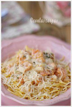 Espaguetis de maiz con salsa de calabaza, sin gluten {by Paula, Con las Zarpas en la Masa}