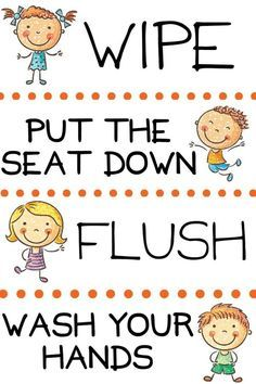 Bathroom Reminder for Kids - FREE Printable