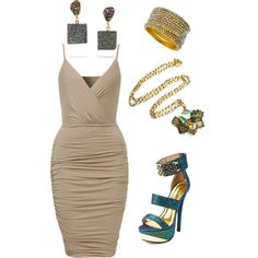 Nude and Druzy A fashion look from February 2015 featuring Charlotte Russe sandals, Dara Ettinger earrings and Greenbeads bracelets. Browse and shop related looks.