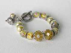 Buttercup Handmade Beaded Bracelet by bdzzledbeadedjewelry on Etsy, $34.00