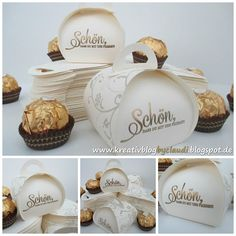 Schön, dass du mit uns feierst! Goodies für die goldene Hochzeit! Cookie Box, Envelope Punch Board, Wedding Boxes, Little Boxes, Candy Boxes, Box Packaging, Keepsake Boxes, Stamping Up, Box Bag