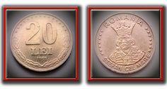 20 Lei 1991 Coins, Money, Rooms, Silver