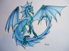 Water Dragon Tattoo Design by Elle-Cosplay.deviantart.com on @deviantART #dragon #tattoos #tattoo