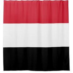 Yemen Flag Shower Curtain - shower curtains home decor custom idea personalize bathroom