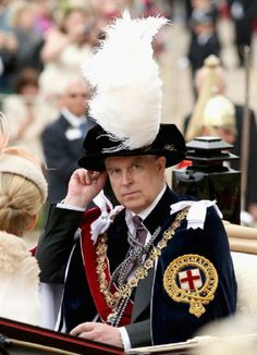 Prince Andrew, Duke of York travels by carriage after the Most Noble Order of the Garter Ceremony, 16.06.2014 in Windsor, England.