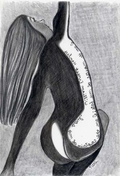 In Bloom  pencil drawing  female nude  aceo by penciledbynicole #art #aceo #drawing #quote #inspirational #mini #femalefigure