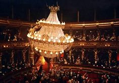 Beautiful chandelier from the Phantom of the Opera musical production.