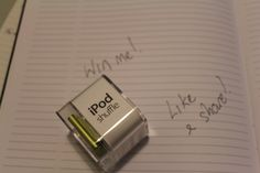 Ipod Shuffle 2gb giveaway. A thanks to getting us to near 300 likes in three weeks!