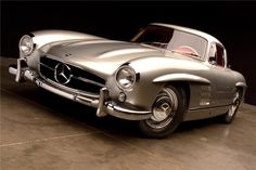 silver on red leather 1954 MERCEDES-BENZ 300SL GULLWING