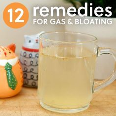 12 Remedies for Gas & Bloating- to relieve the pressure. natural health tips, natural health remedies