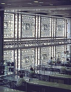 Institut du Monde Arabe- the whole facade of this building is made up of these sections that all open/close depending on the light