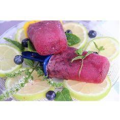 Homemade blueberries popsicles